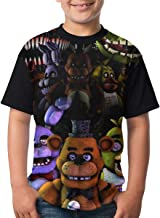 Jiaking Boys Five Nights at Freddy FNAF T-Shirts Youth Kids Polyester Short Sleeve Active Sports Top Tee