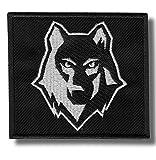 Wolf - Bestickter Aufnäher, Patch, 9x8 cm