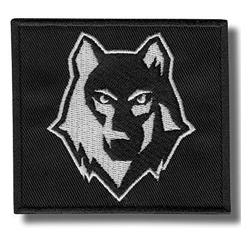 Parche bordado Lobo, 9 x 8 cm