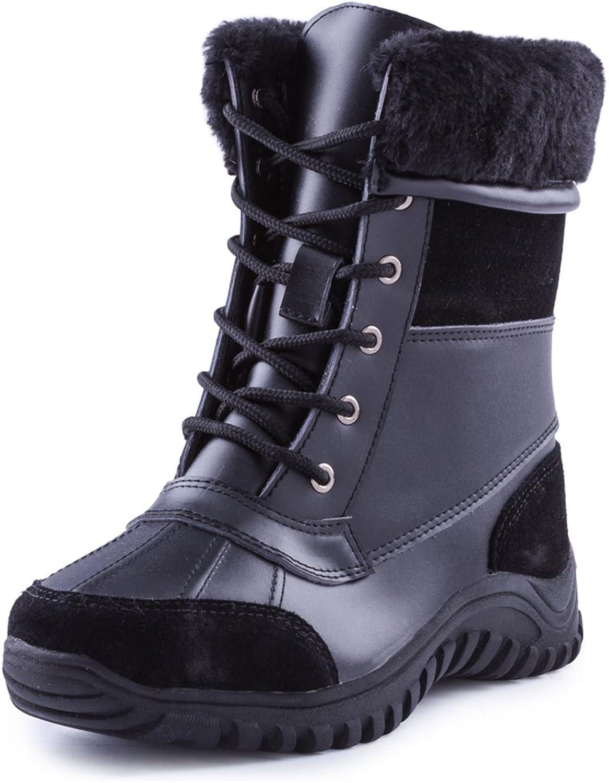 Ausland Women's Lace-up Waterproof Mid-Calf Winter Boots A5469