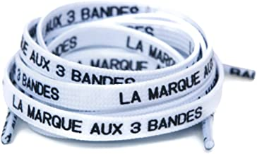 Brand with 3 Stripes Laces in French - Shoelaces for NMD / Ultraboost / Yeezy - Multiple Colors to Choose From!