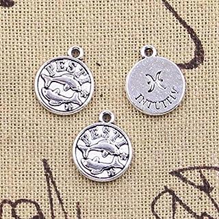 12Pcs Charms Pisces Zodiac Vigro Aquarius Taurus Scorpio Capricron Leo Gemini Cancer 12X10Mm Tibetan Silver Color Pendants...