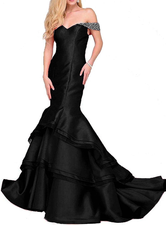 Ellenhouse Women's Long Satin Beaded Sweetheart Evening Prom Party Dress EL233