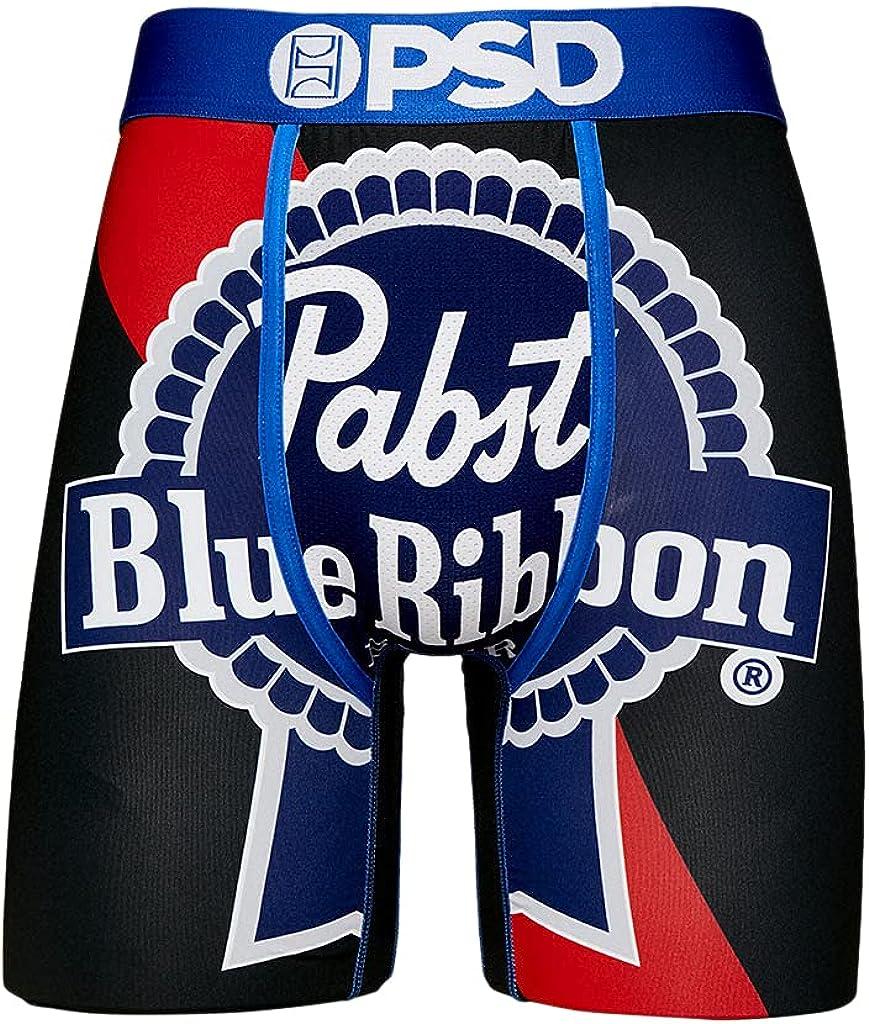 PSD Underwear Men's Stretch Wide Band Boxer Brief Underwear Bottom - PBR Beer