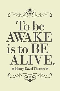 Henry David Thoreau to Be Awake is to Be Alive Yellow Cubicle Locker Mini Art Poster 8x12