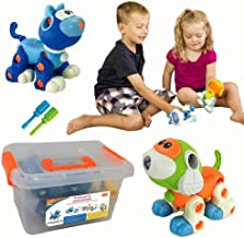 Kidtastic Set of Take Apart Toys - Cat & Dog Models - STEM Building Set - Hours of Fun - 88 Pieces - Engineering Kit for Boys, Girls, Toddlers - Age 3, 4, 5 +Year Old