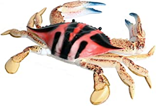 JOKFEICE Spotted Sea Crab Figurines, Realistic Sea Animal Toy, Science Project, Cake Topper, Early Educational Toys Birthd...