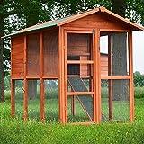 Zooprimus Hühnerstall 030 Geflügelhaus - PREMIUM-HÜHNERHAUS - Stall für Außenbereich
