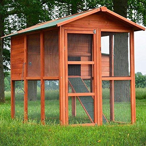 zooprinz Hühnerstall 030 Geflügelhaus - Premium-HÜHNERHAUS - Stall für Außenbereich (für Kleintiere: Hühner, Geflügel, Vögel, Enten usw.)