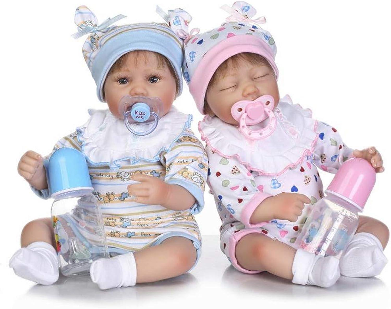 LIDE Reborn Babys Puppe Zwillinge Junge mdchen 22 Zoll 55 cm Baby Doll Kinder Spielzeug Geburtstag Geschenke Weiche Silikon Vinyl Magnetismus Neugeborenes