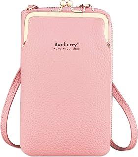 Damen Tasche Handy Umhängetasche PU Leder mit Geldbörse Tasche Brieftasche mit Credit Card Slots Verstellbar Schultergurt ...