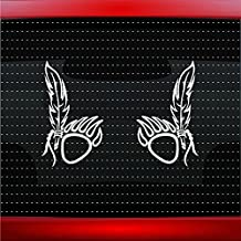 Noizy Graphics Bear Paw #14 Pair Indian Native American Car Sticker Truck Window Vinyl Decal Color: White