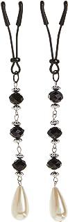 Bijoux De Nip Nipple Clamp Short Tweezer Black Beads Pearl Drop
