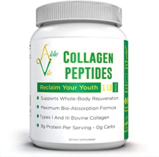 Multi Collagen Peptide Powder Hydrolyzed Type 1 & 3 Protein Supplement (16 oz.) - Maximum Bio-Absorption - Paleo & Keto, Non-GMO - Promotes Healthy Skin, Nails, Hair - Improves Joint Health
