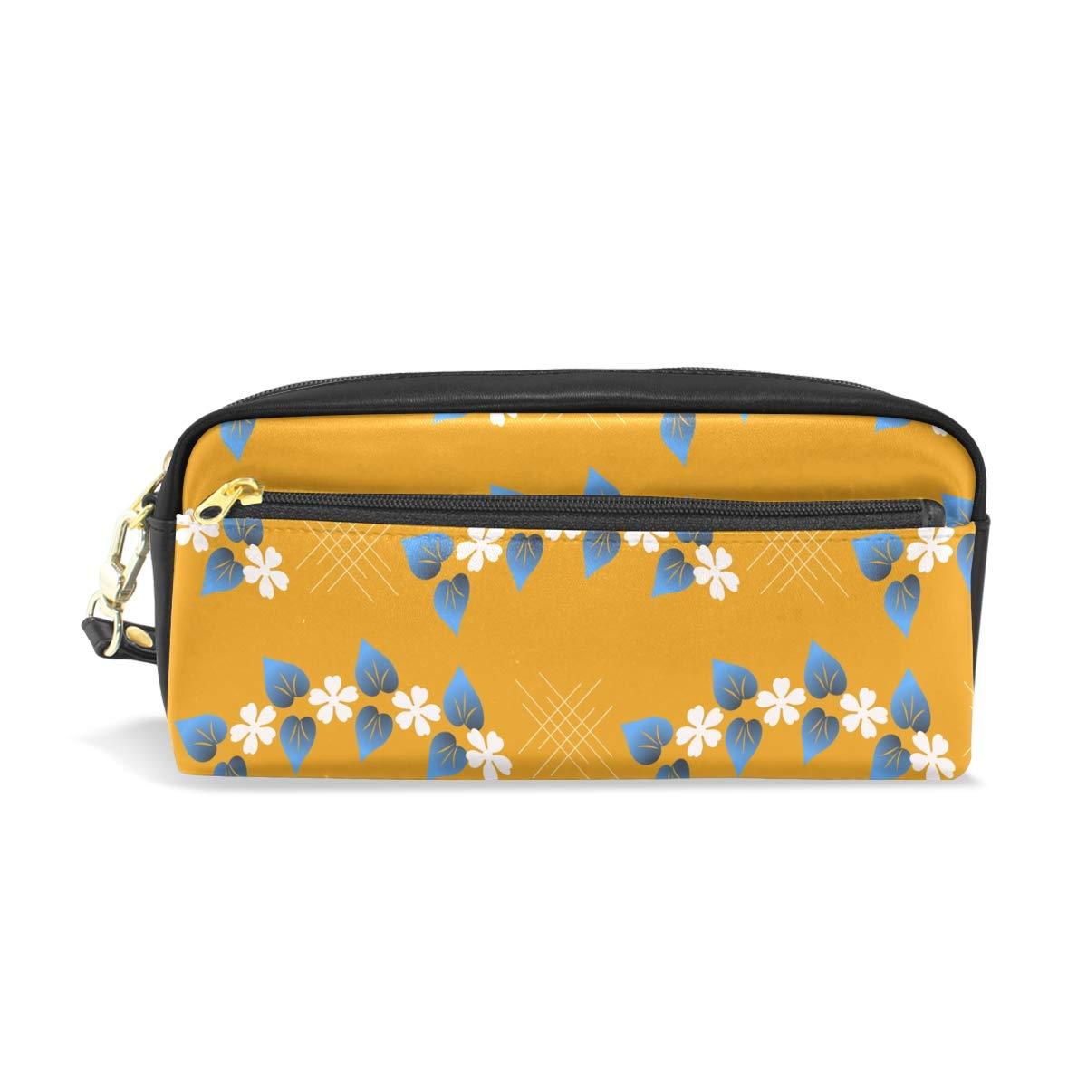 Montoj - Estuche para lápices, diseño de guirnalda, color amarillo: Amazon.es: Oficina y papelería