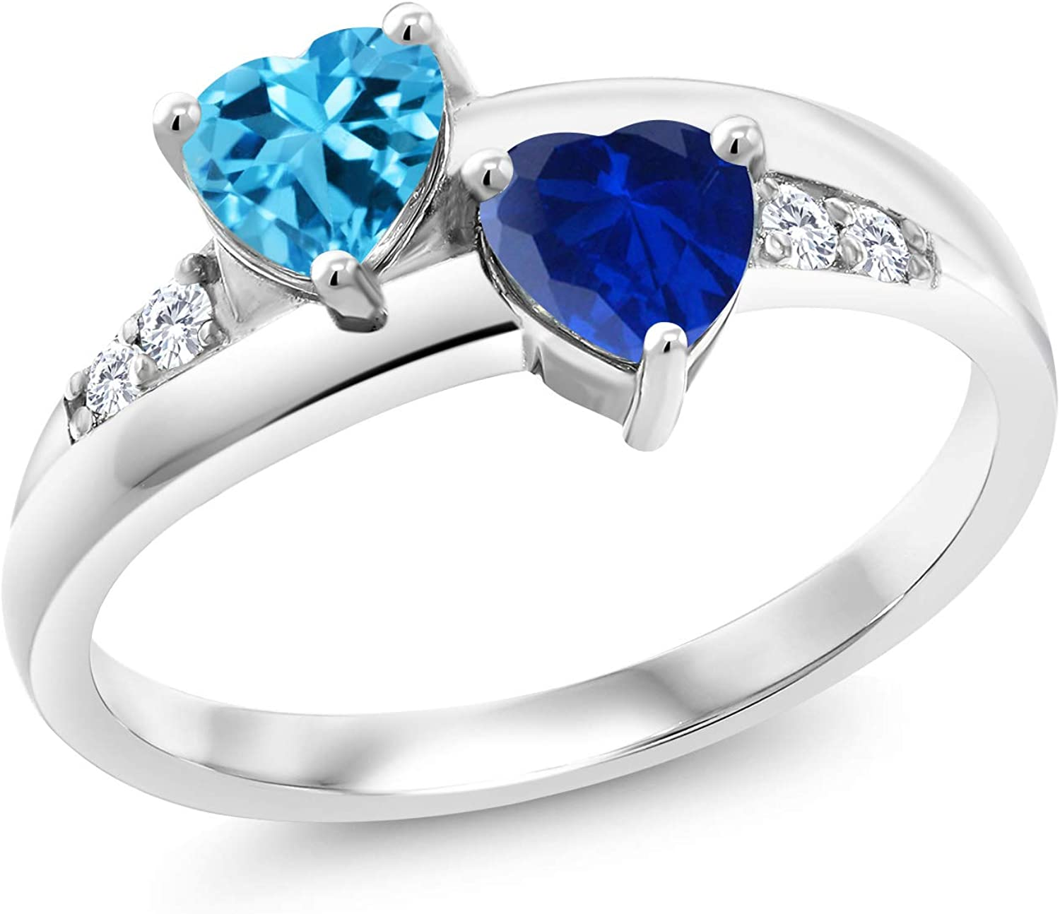Gem Stone King 925 Sterling Silver and Cre Blue Swiss NEW before selling Austin Mall Topaz