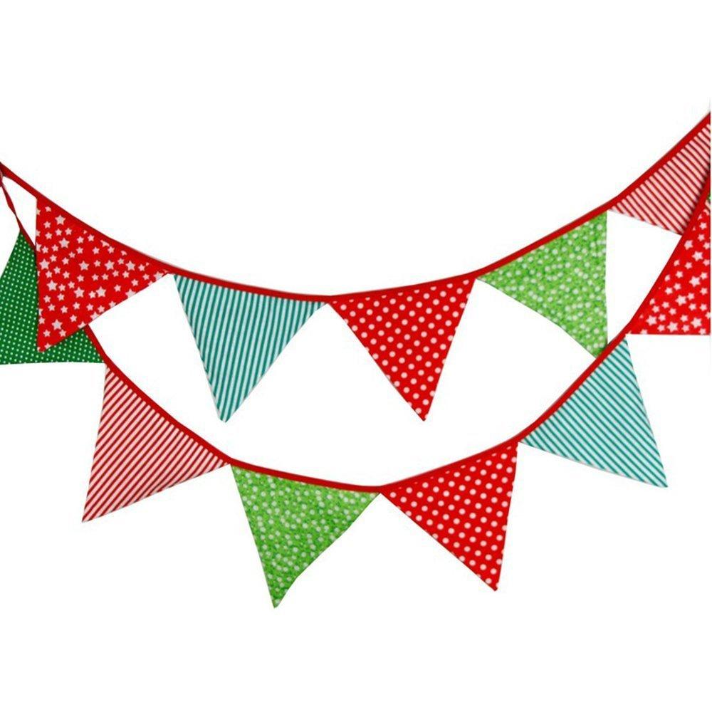 G2PLUS 3.3M banderines Guirnalda de banderines,Banderines de Tela,Guirnalda Fiesta,Triángulo Banner,para decoración,Fiestas de cumpleaños de Boda: Amazon.es: Hogar