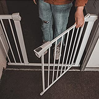 LELEGuardrail Indoor Punch Free Thru Baby Pet Safety Gates Super Wide With Pressure Mount Double Lock Fence For Play Area Fireplace Isolation Fence Barrier  Color High76 width  Size 131-138cm