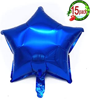 """15PCS 18"""" Five Star Shape Foil Balloons Mylar Balloons for Graduation Party Supplies Birthday Party Wedding Decoration (Navy Blue)"""