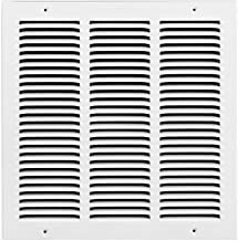 Rocky Mountain Goods Air Return Grille - Heavy duty steel with premium finish - Includes full installation kit - Louvered design - Paintable vent cover - Matte white - Consistent air flow (18