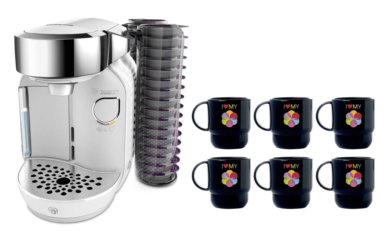 Bosch TASSIMO Caddy + 6 vasos para cafeteras 27,0 x 18,3 x 32,2 cm Blanco: Amazon.es: Hogar