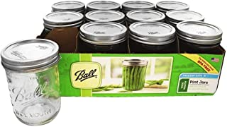 Ball 66000 1 Pint Wide Mouth Can Or Freeze Canning Jars 12 Count Case