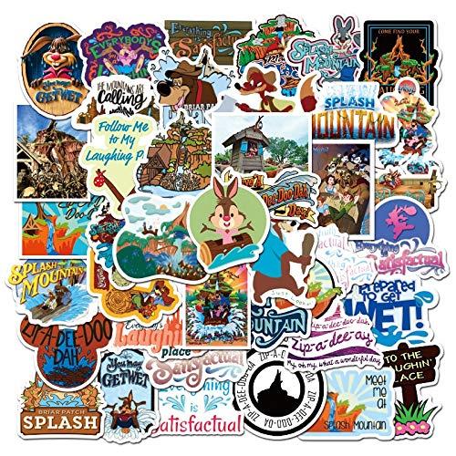 Pegatinas estéticas Pack 50-Pcs Stickers para Juegos Infantiles Splash Mountain Pegatinas de papelería Pegatinas para teléfono portátil s