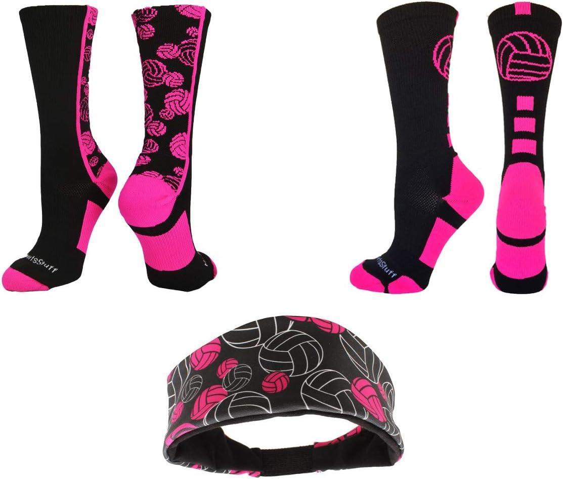 MadSportsStuff Volleyball Logo Crew Socks Multiple Colors