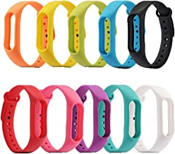 SelfTek 10 Pieces Replacement Wristbands Wireless Replacement Band for Xiaomi Mi Bracelet