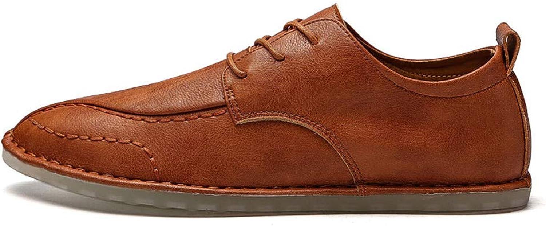 JIALUN-Schuhe Einfache Oxfords der der der Männer schnüren Sich Oben beiläufige Feste Farbe Schuhe (Farbe   Braun, Größe   44 EU)  9e3cb5
