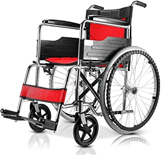 Wheelchairs for Adults Lightweight, Foldable Lightweight Elderly Wheelchair, Manual Wheelchair, Suitable for The Elderly, ...