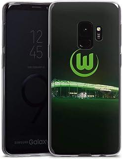 DeinDesign Slim Case extra dünn kompatibel mit Samsung Galaxy S9 Silikon Handyhülle transparent Hülle Offizielles Lizenzprodukt VFL Wolfsburg Stadion