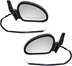 Driver and Passenger Power Side View Mirrors Textured Replacement for 1998-2003 Escort ZX2 Coupe F8CZ17682DA F8CZ17682CA