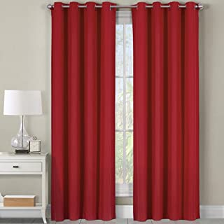 Best red cotton curtains Reviews