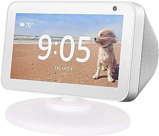 iEay Support Réglable pour Echo Show 5, Réglable avec Base Magnétique pour Echo Spot, Blanc