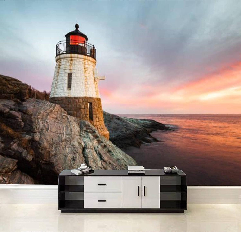 sale QDAXZJPRLB Wallpaper Wall Sticker Landsca Castle Hill lowest price Lighthouse