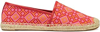 Tory Burch 48271 4T Printed Flat Espadrille Printed Canvas Honeysuckle Size 8