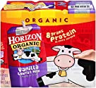Horizon Organic, Low Fat Organic Milk Box, Vanilla, 8 Ounce (Pack of 6)