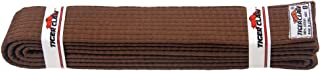 Tiger Claw 100% Cotton Martial Arts Uniform Ranking Belt – 10 Solid Colors (Black, Yellow, Purple, Red, Blue, Green, Orange, Brown, White & Yellow) in All Sizes