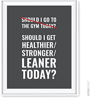 Andaz Press Gym Fitness Wall Art Collection, 8.5x11-inch, Should I Get Healthier Stronger Leaner Today Poster Print, 1-Pack, Unframed
