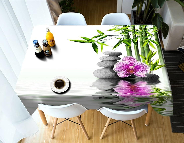 Qiao jin Tischdecke Rechteckige Tischdecke - 3D personalisierte Tischdecke PG00105 - umweltfreundlich und geschmacklos - Digitaldruck wasserdicht (größe   Rectangular -134cmx183cm) B07D56SLKY Neueste Technologie | Optimaler Preis