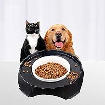 JUSTPET Ceramic Pet Bowl No Spill Dog Cat Food Water Bowl, Anti Skid No Splash No Mess Eating Drinking Bowl, Heavyweight C...