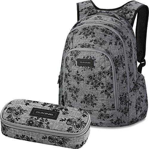 DAKINE 2er Set Rucksack Schulrucksack Laptop Frankie + School CASE Mäppchen Rosie