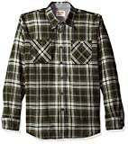 Wrangler Authentics Men's Long Sleeve Flannel Shirt, rosin, Large