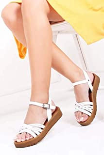 TARÇIN Hakiki Deri Günlük Kadın Sandalet Ayakkabı TRC61-1013