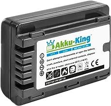 Akku-King battery for Panasonic HC-V110  V110GK  V110K  V110P  V201 replaces VW-VBY100  VBY100E-K Li-Ion 900mAh