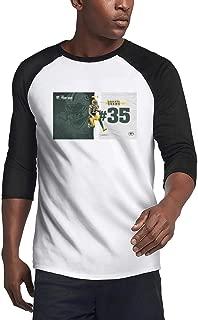 Men's Baseball 3/4 Sleeve Plain Raglan T Shirts Loose-Fit Funny Fitness T-Shirts