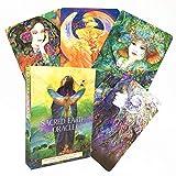 Cartas de oráculo de la Tierra Sagrada Juego de Mesa de 45 Cartas de la versión Inglesa del Solitario de Oracle de la Tierra Sagrada Juego de Mesa de Destino de adivinación