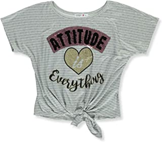 Beautees Girls' Happiness Sparkle Top