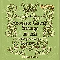 【6セット】ARIA/アリア AGS-200C/L [11-52] アコースティックギター用 コーティング弦